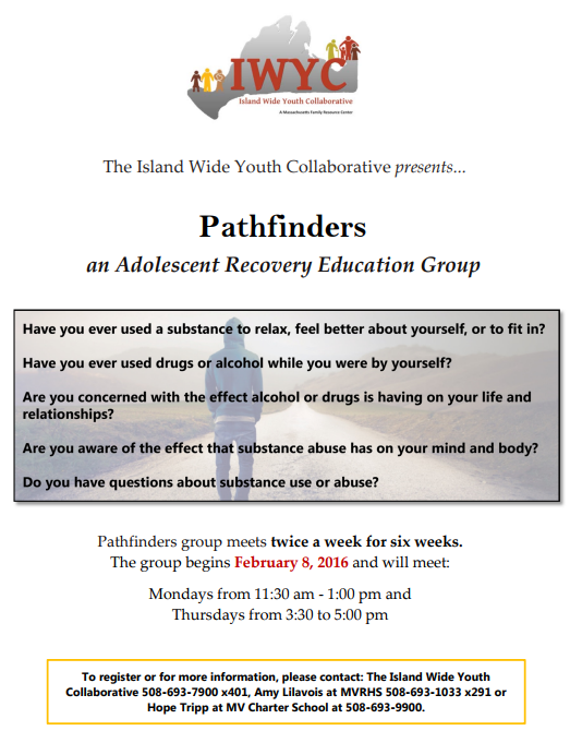 Pathfinders an Adolescent Recovery Education Group