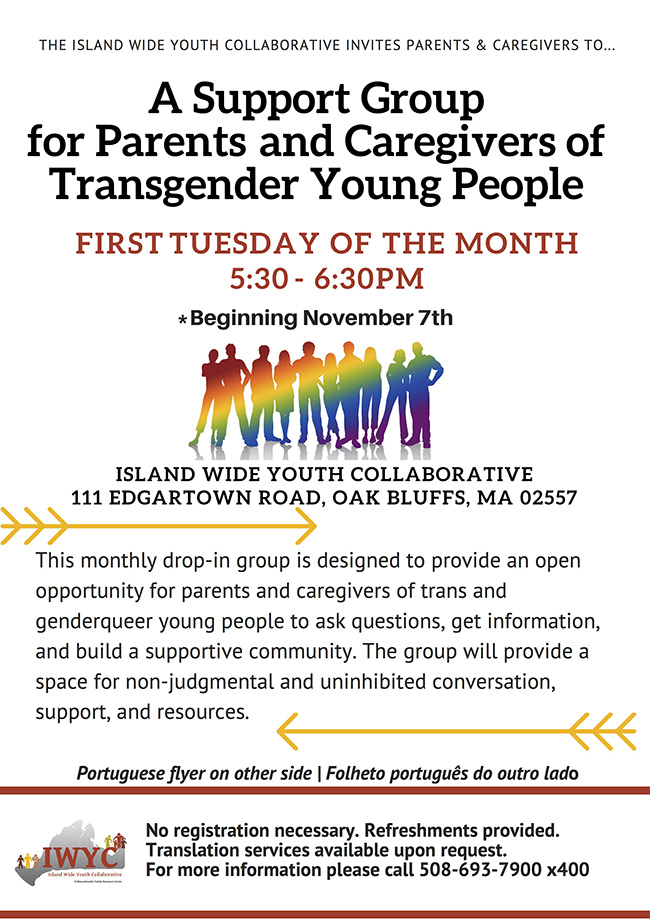Transgender support groups at IWYC
